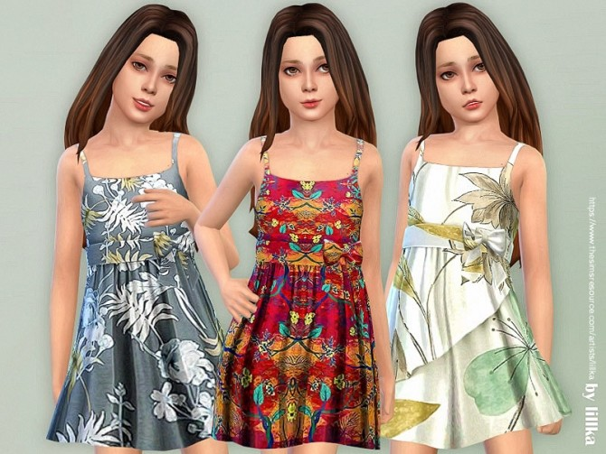 Sims 4 Girls Dresses Collection P137 by lillka at TSR