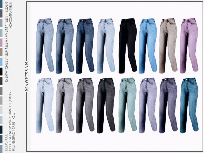 Spring straight jeans by magpiesan at TSR image 583 670x503 Sims 4 Updates