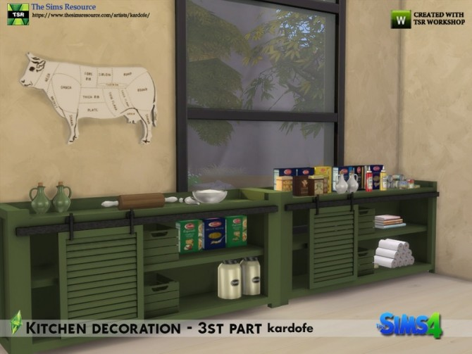 Kitchen decoration 3rd part by kardofe at TSR image 586 670x503 Sims 4 Updates