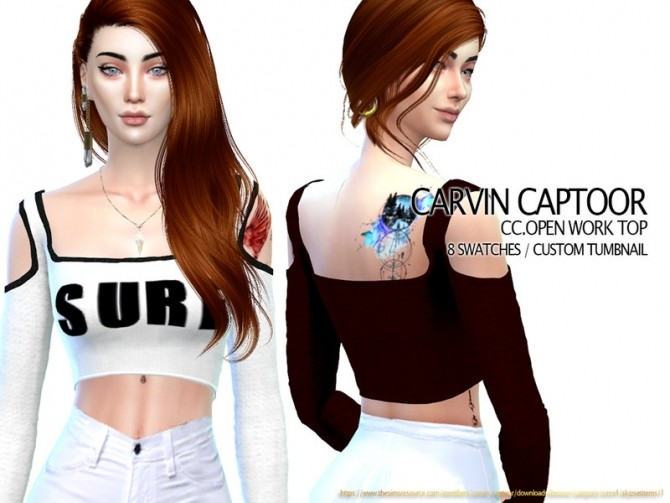 Open work top by carvin captoor at TSR image 5917 670x503 Sims 4 Updates