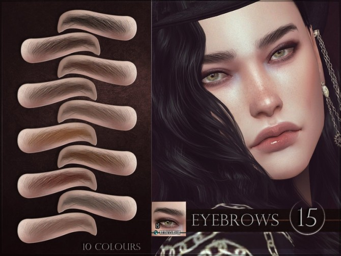 Sims 4 Eyebrows 15 by RemusSirion at TSR