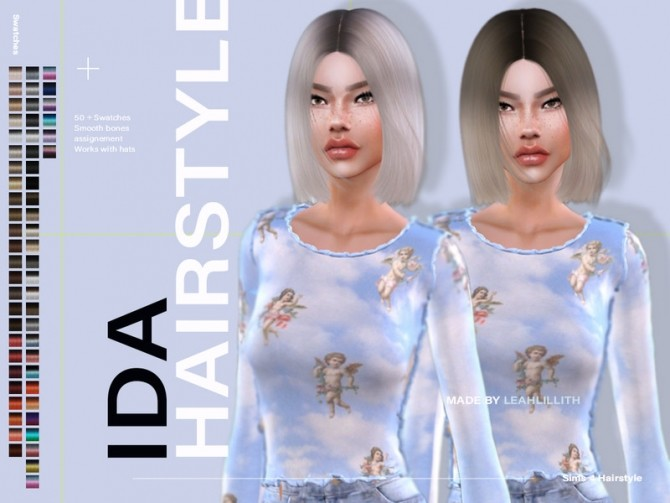 Sims 4 Ida Hairstyle by Leah Lillith at TSR
