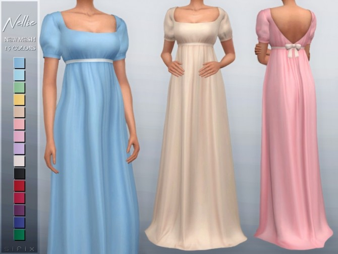 Sims 4 Nellie Dress by Sifix at TSR