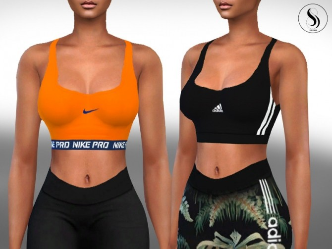 Sims 4 Female Basic Athletic Bras by Saliwa at TSR