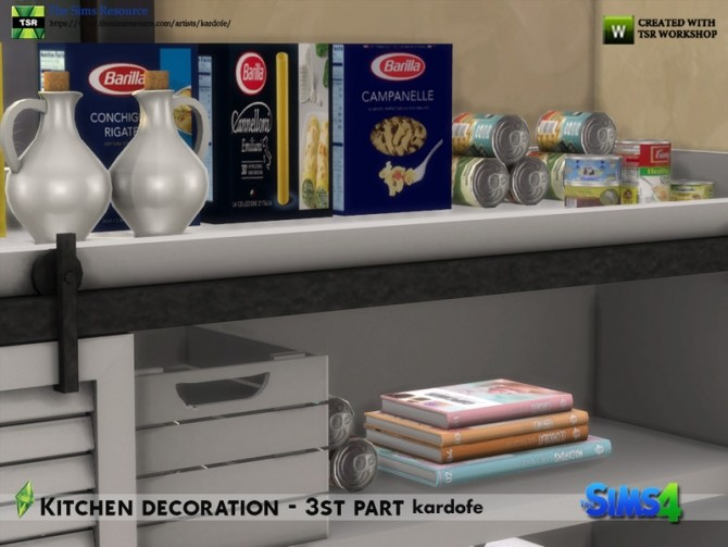 Kitchen decoration 3rd part by kardofe at TSR image 606 670x503 Sims 4 Updates