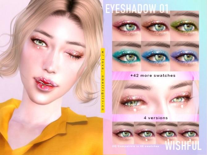 Sims 4 EYESHADOW 01 Wishful Ver. 1 (HQ) by oneirigiri at TSR
