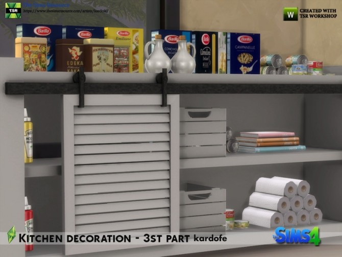 Sims 4 Kitchen decoration 3rd part by kardofe at TSR