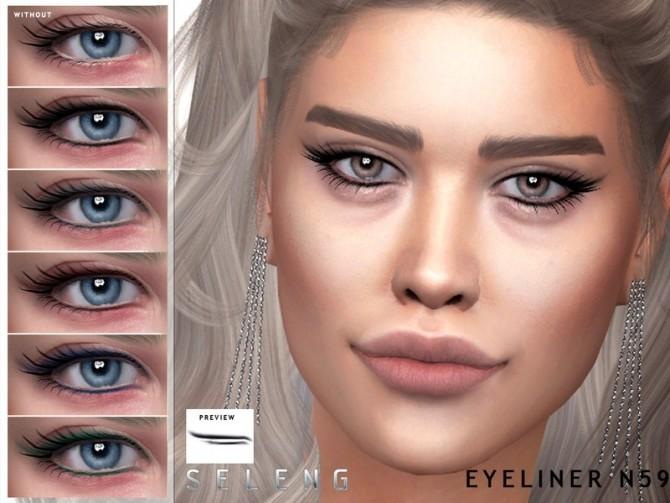 Sims 4 Eyeliner N59 by Seleng at TSR
