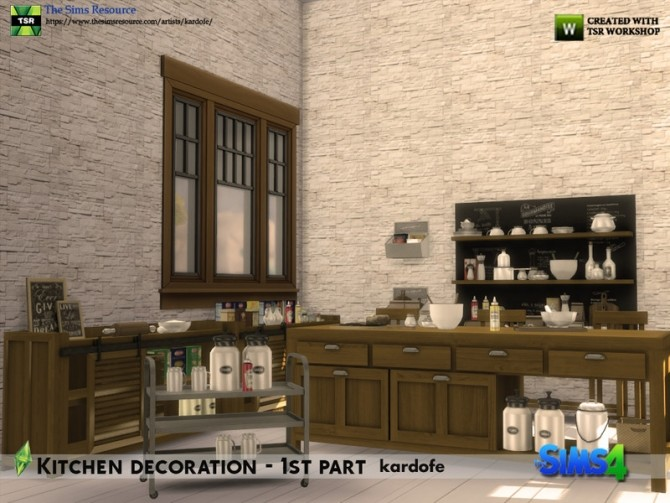 Kitchen decoration 1st part by kardofe at TSR image 624 670x503 Sims 4 Updates