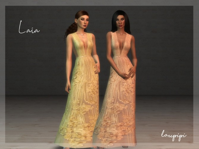 Sims 4 Laia dress by laupipi at TSR