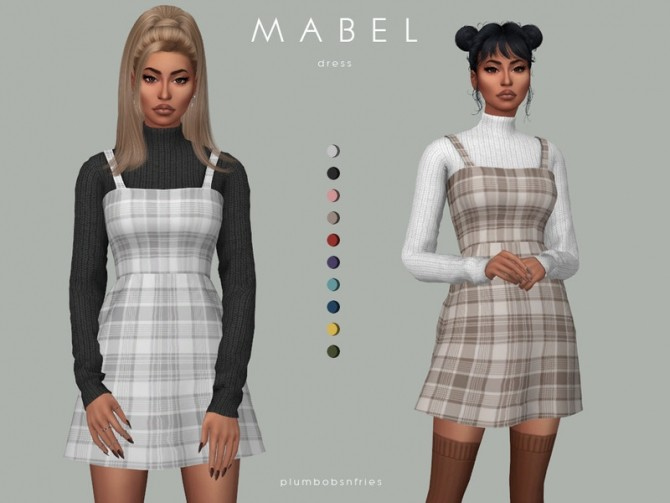 Sims 4 MABEL dress by Plumbobs n Fries at TSR
