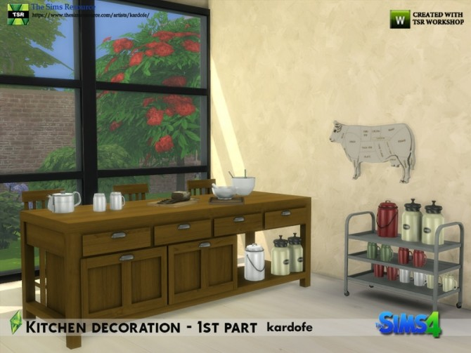 Kitchen decoration 1st part by kardofe at TSR image 634 670x503 Sims 4 Updates