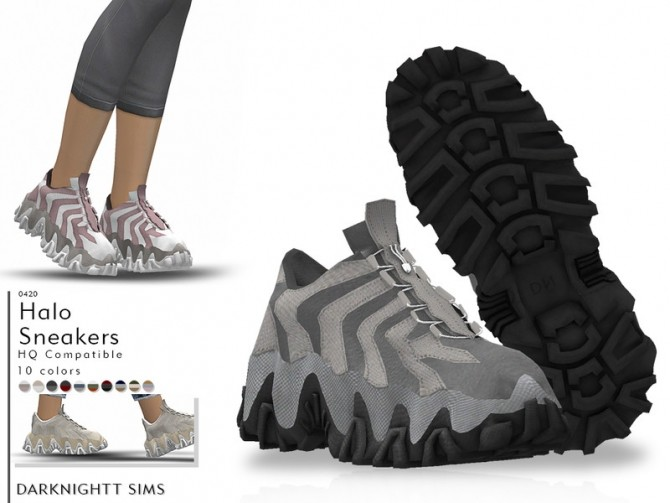 Sims 4 Halo Sneakers by DarkNighTt at TSR