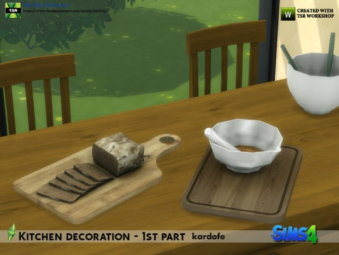 Kitchen decoration 1st part by kardofe at TSR image 644 670x503 Sims 4 Updates