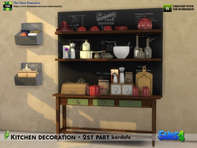 Kitchen decoration 2nd part by kardofe at TSR image 645 670x503 Sims 4 Updates