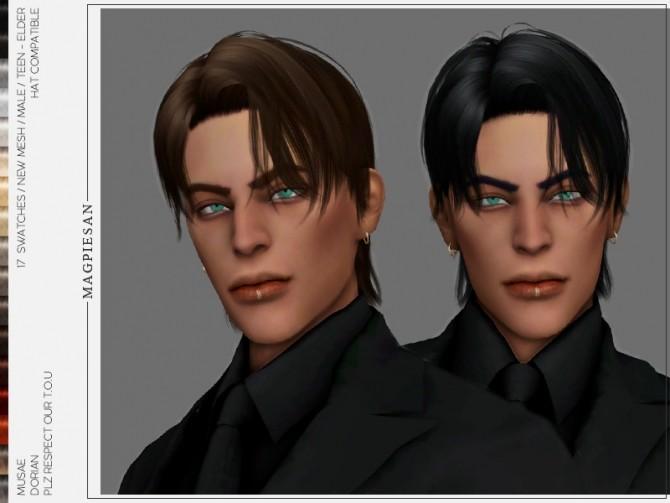 Sims 4 Dorian Hair by magpiesan at TSR