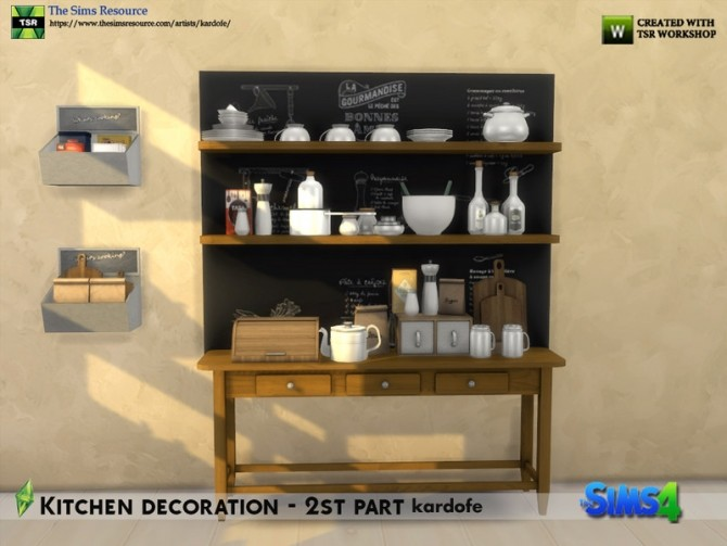 Kitchen decoration 2nd part by kardofe at TSR image 655 670x503 Sims 4 Updates