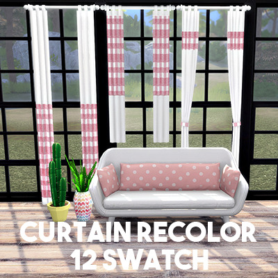 Sims 4 Curtains recolor at L.Sim