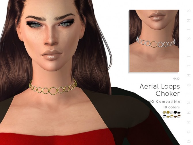 Aerial Loops Choker by DarkNighTt at TSR image 66101 670x503 Sims 4 Updates