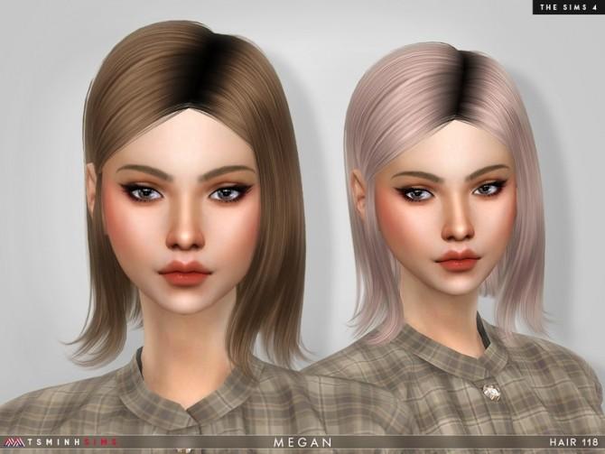 Sims 4 Megan Hair 118 by TsminhSims at TSR