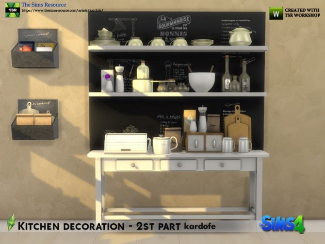 Kitchen decoration 2nd part by kardofe at TSR image 664 670x503 Sims 4 Updates