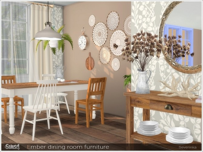 Ember dining room furniture by Severinka at TSR image 666 670x503 Sims 4 Updates