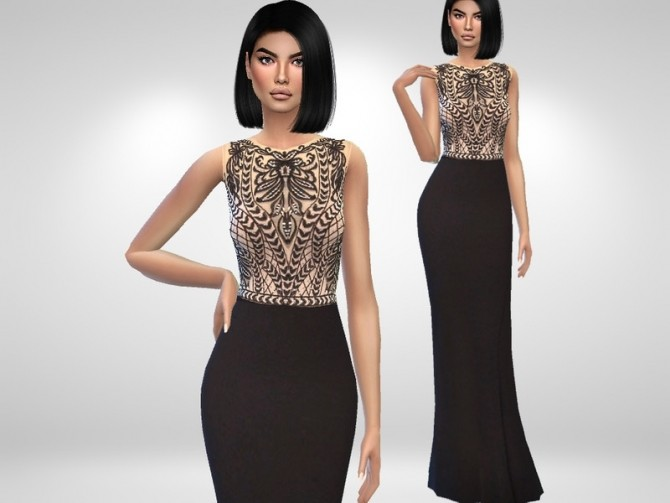 Eliza Prom Dress by Puresim at TSR image 6711 670x503 Sims 4 Updates