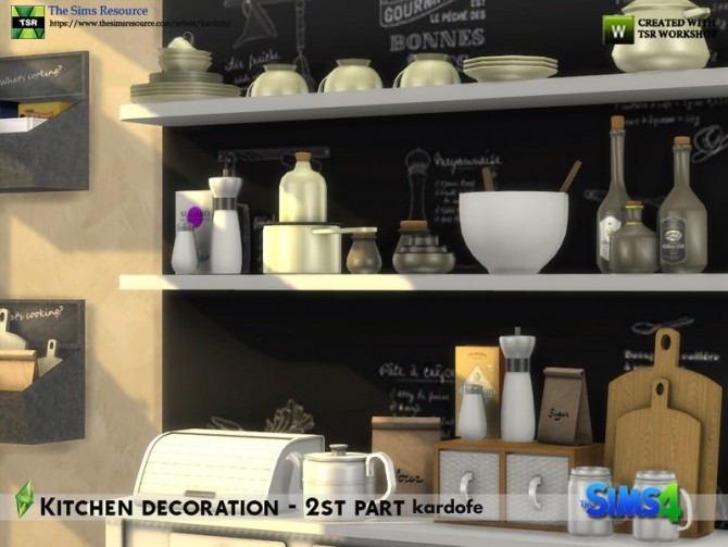 Kitchen decoration 2nd part by kardofe at TSR image 674 670x503 Sims 4 Updates