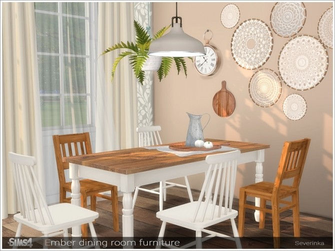 Ember dining room furniture by Severinka at TSR image 676 670x503 Sims 4 Updates