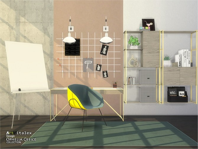 Sims 4 Ophelia Office by ArtVitalex at TSR
