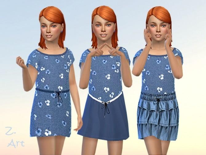 GirlZ 24 comfortable shirt dress by Zuckerschnute20 at TSR image 6816 670x503 Sims 4 Updates