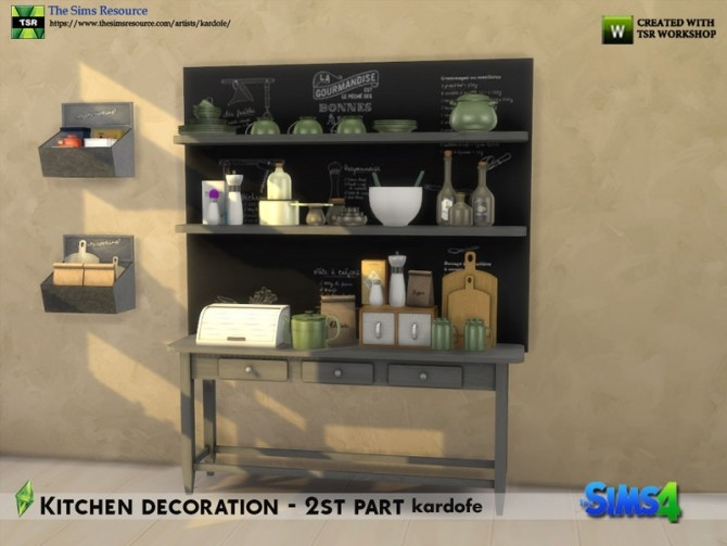Kitchen decoration 2nd part by kardofe at TSR image 684 670x503 Sims 4 Updates