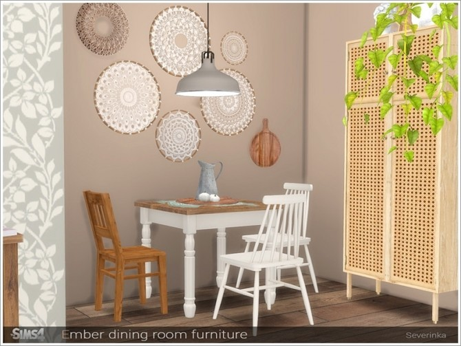 Ember dining room furniture by Severinka at TSR image 686 670x503 Sims 4 Updates