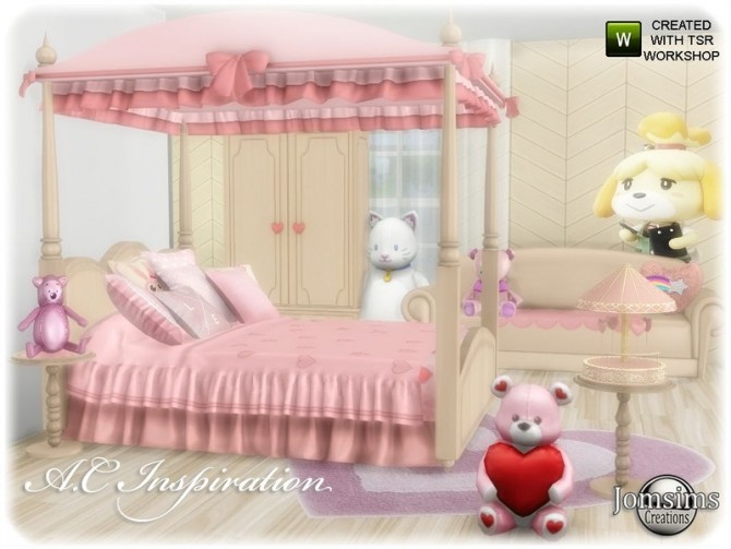 Sims 4 AC inspiration set Bedroom by jomsims at TSR