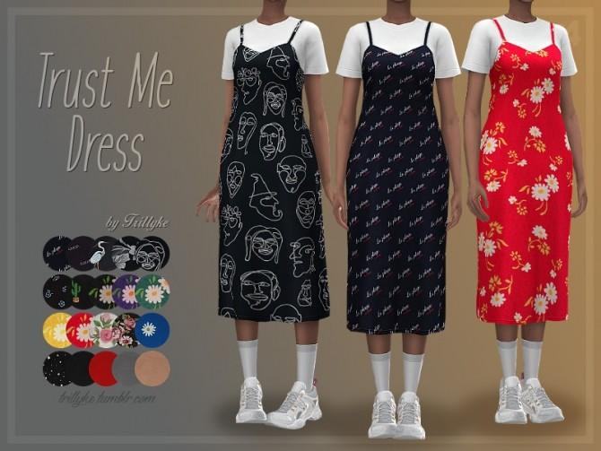 Sims 4 Trust Me Dress by Trillyke at TSR