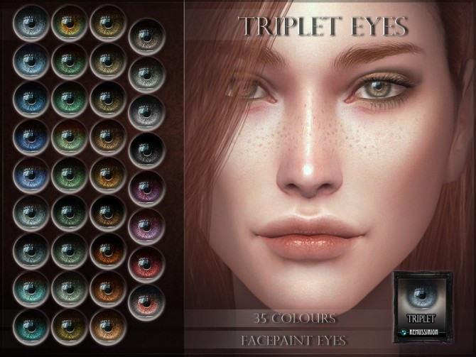 Sims 4 Triplet Eyes by RemusSirion at TSR