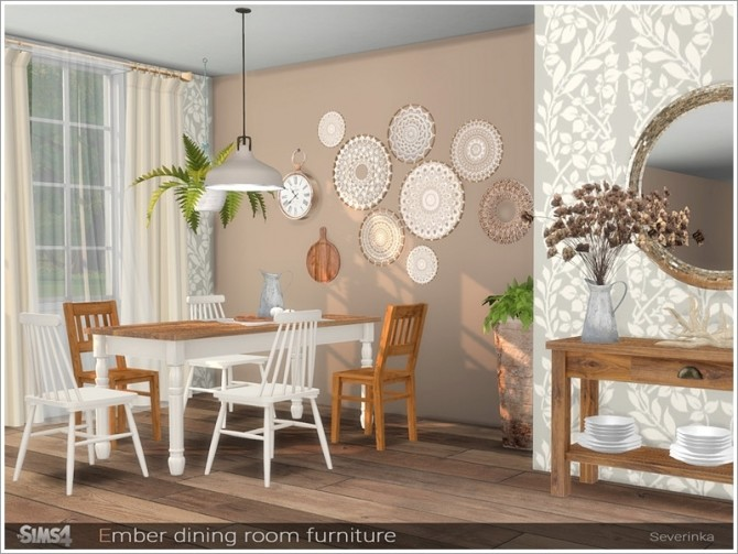 Ember dining room furniture by Severinka at TSR image 707 670x503 Sims 4 Updates