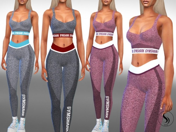 Sims 4 Female Full Gym Outfits by Saliwa at TSR