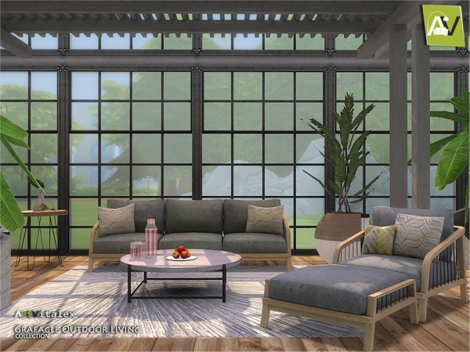 Graeagle Outdoor Living by ArtVitalex at TSR image 7212 670x503 Sims 4 Updates