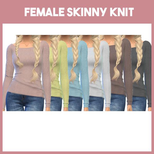 Sims 4 Skinny knit top at L.Sim
