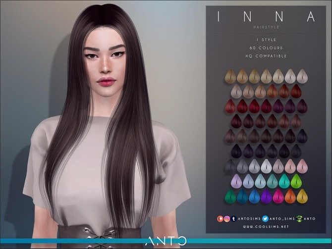 Sims 4 Inna Hairstyle by Anto at TSR