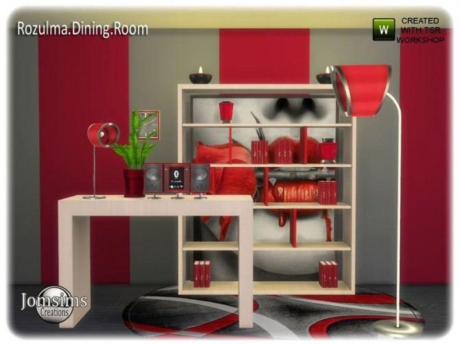 Rozulma Dining room part 2 by jomsims at TSR image 7321 670x503 Sims 4 Updates