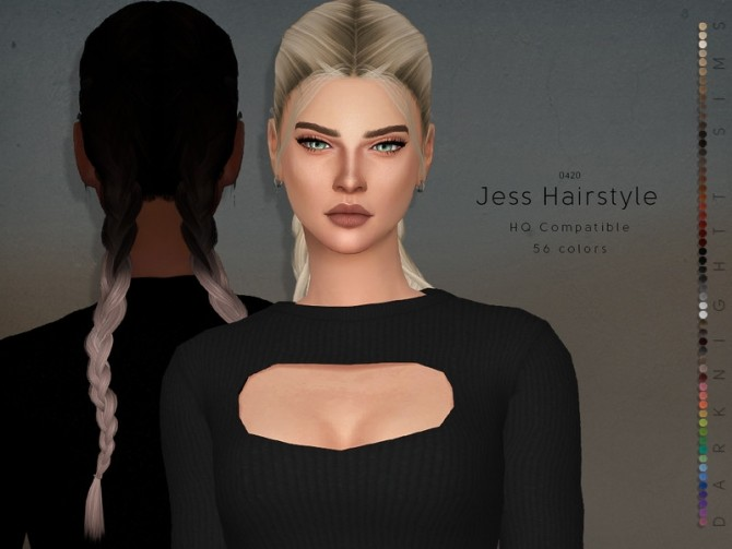 Sims 4 Jess Hairstyle by DarkNighTt at TSR