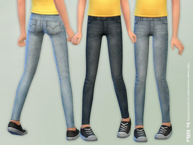 Skinny Jeans for Girls 07 by lillka at TSR image 7416 670x503 Sims 4 Updates