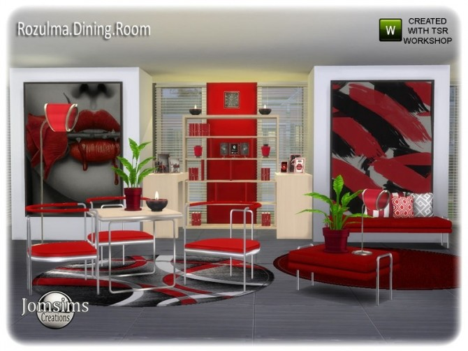 Rozulma Dining room by jomsims at TSR image 7419 670x503 Sims 4 Updates