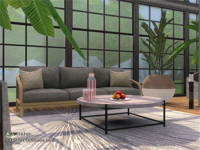 Sims 4 Graeagle Outdoor Living by ArtVitalex at TSR