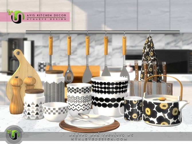 Avis Kitchen Decor by NynaeveDesign at TSR image 7513 670x503 Sims 4 Updates