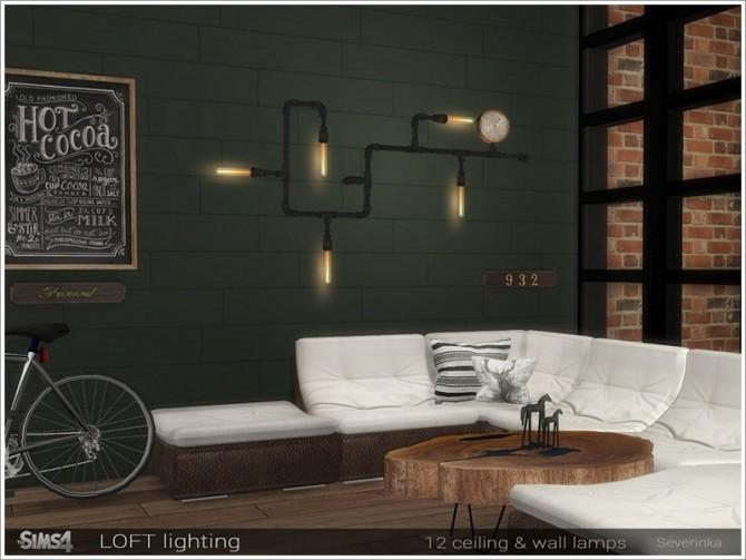 Sims 4 Loft lighting by Severinka at TSR