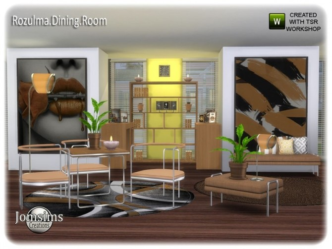 Rozulma Dining room by jomsims at TSR image 7519 670x503 Sims 4 Updates