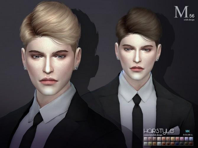 Sims 4 Hair leon n56 by S Club at TSR